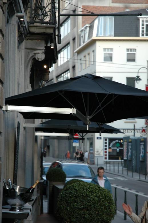 parasol terrasse restaurant gain de place