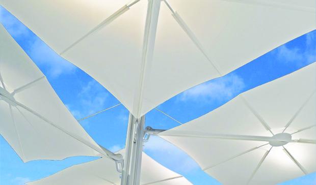 spectra multi 1 mât poteau 4 parasols