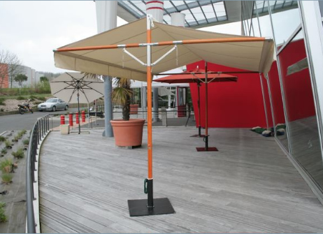parasol d port et excentr inclinable grand parasol pour terrasse h tel restaurant qualite. Black Bedroom Furniture Sets. Home Design Ideas
