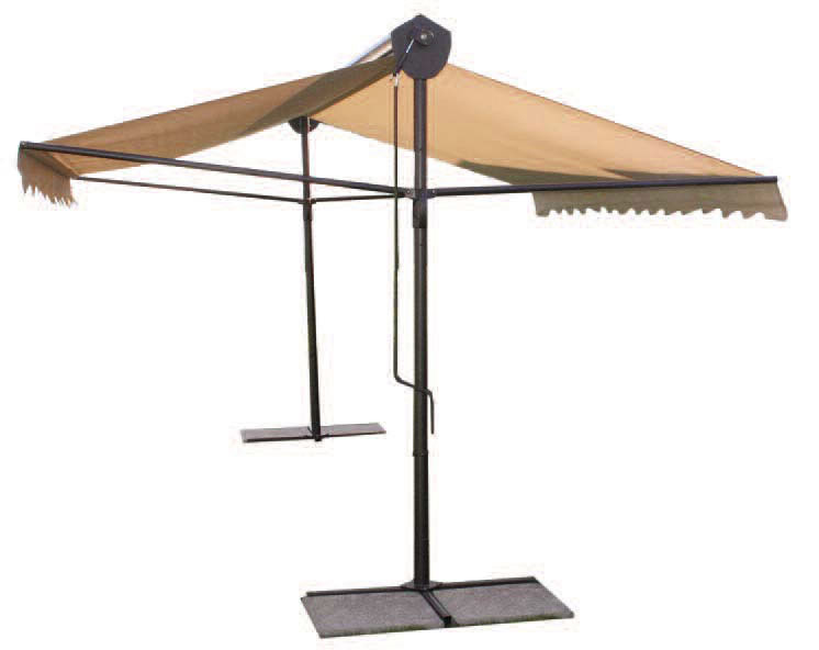 parasol professionnel 2 pans pour terasse de restaurant et bar. Black Bedroom Furniture Sets. Home Design Ideas
