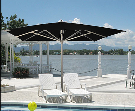 parasol design à manivelle grand 5x5m