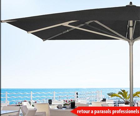 grand parasol aluminium résistant au vent