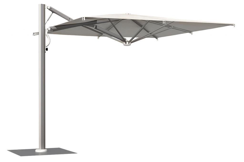 Parasol à mat excentré armature alu anodisé