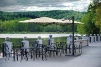 parasol double toile design parasol excentré haut de gamme