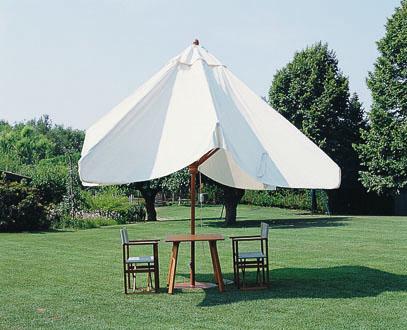 parasol professionnel en bois terrasse