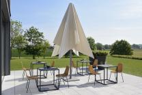 parasol télescopique carré 4x4m