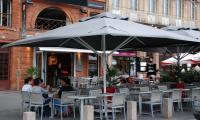 grand parasol restaurant 5x5m 4.5x4.5m