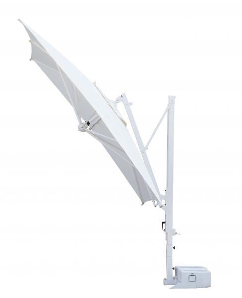 Parasol orientable à 360 degrés Galileo Starwhite ou Inox SCOLARO