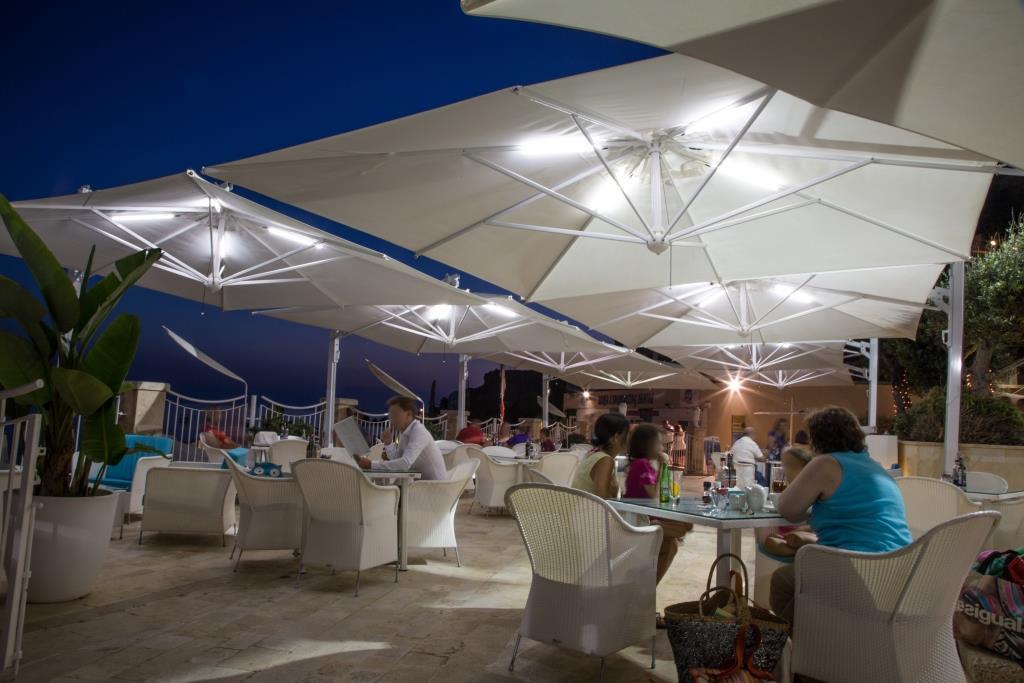 Parasol déporté de qualité Galileo Starwhite ou Inox SCOLARO
