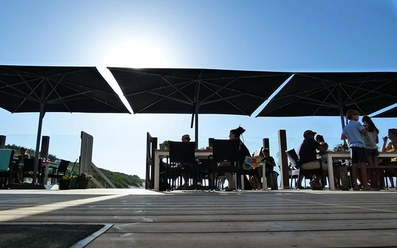 grand parasol restaurant terrasse 5x5m 4x4m