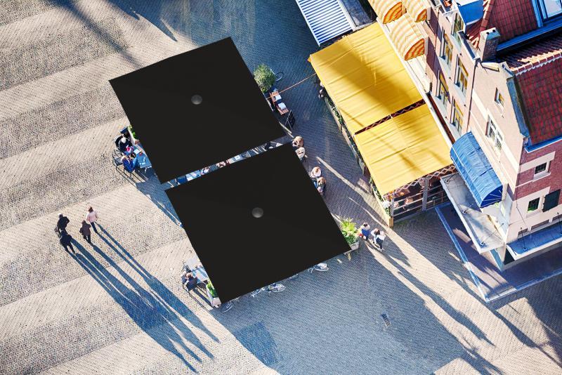 parasol géant noir restaurant qualité