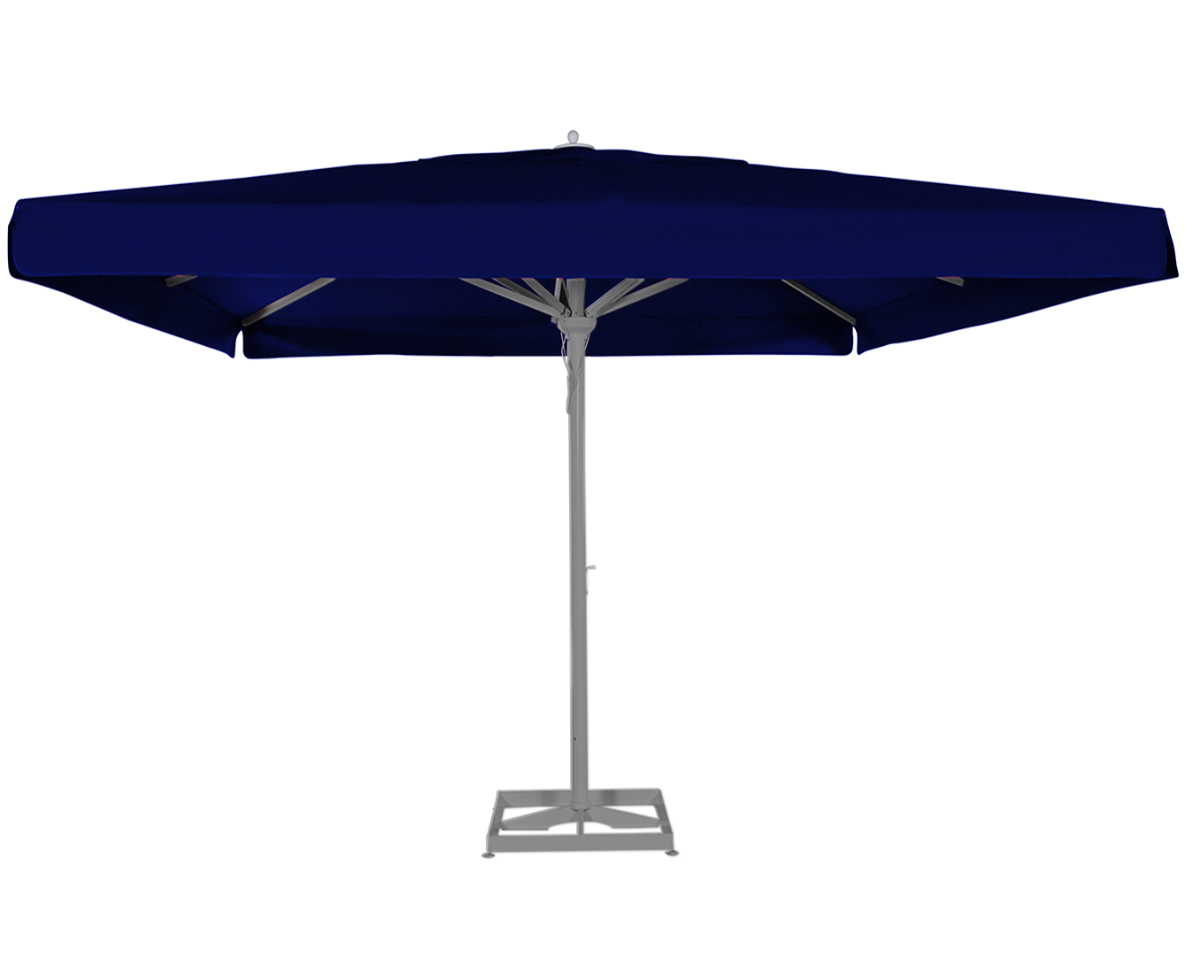 maestro prestige solero grand parasol mat central en alu 4x4m 3x4m terrasse restaurant. Black Bedroom Furniture Sets. Home Design Ideas