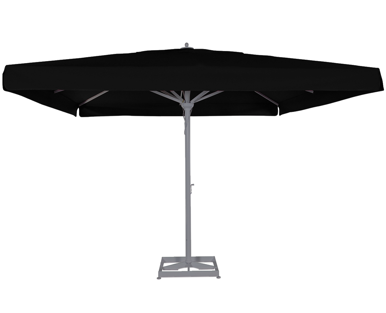 maestro prestige solero grand parasol mat central en alu 4x4m 3x4m terrasse restaurant. Black Bedroom Furniture Sets. Home Design Ideas