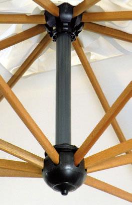 Quadruple parasol pour restaurant Alu Poker Scolaro SCOLARO