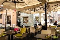 Parasol géant déporté carré 7x7m Alu Poker Scolaro SCOLARO