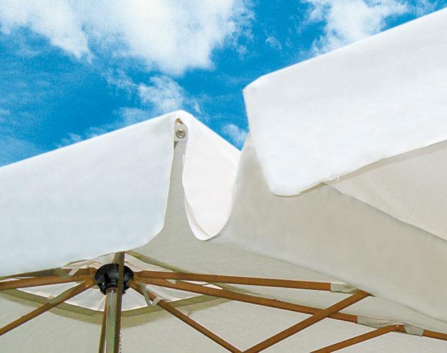 Grand parasol déporté rectangle 4x8m Alu Double Scolaro SCOLARO