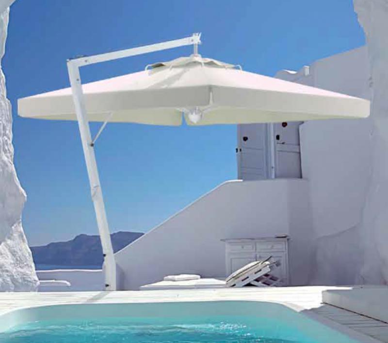parasol d port terrasse de restaurant et h tel grand parasol excentr de luxe. Black Bedroom Furniture Sets. Home Design Ideas