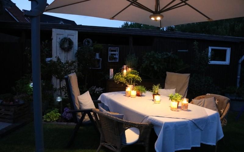 éclairage parasol nuit led cielo plus solero