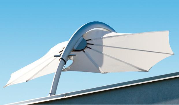 parasol toit terrasse design luxe
